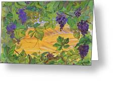 Autumn In Wine Country Greeting Card by Carolyn Doe