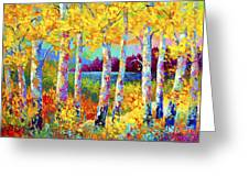 Autumn Jewels Greeting Card by Marion Rose