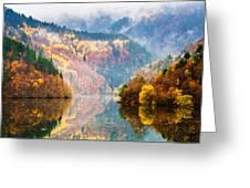 Autumn Lake Greeting Card by Evgeni Dinev