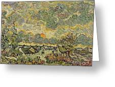 Autumn Landscape Greeting Card by Vincent Van Gogh