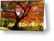 Autumn Leaves 2 Greeting Card by Roberto Alamino