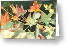 Autumn Leaves Greeting Card by Arline Wagner