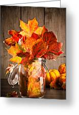Autumn Leaves Still Life Greeting Card by Amanda And Christopher Elwell