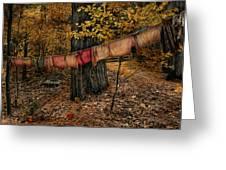 Autumn Linens Greeting Card by Robin-lee Vieira