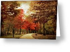 Autumn Maples Greeting Card by Jessica Jenney