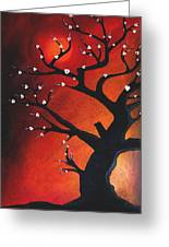Autumn Nights - Abstract Tree Art By Fidostudio Greeting Card by Tom Fedro - Fidostudio