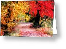 Autumn Path II Greeting Card by William Carroll