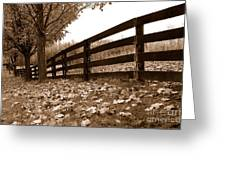 Autumn Perspective Greeting Card by Joe  Ng