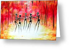 Autumn Ring Greeting Card by Heather Calderon