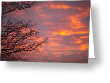 Autumn Sky Greeting Card by Konstantin Dikovsky