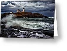 Autumn Storm At Cape Neddick Greeting Card by Rick Berk