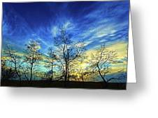 Autumn Sunset Greeting Card by ABeautifulSky Photography