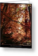 Autumn Sunshine Poster Greeting Card by Carol Groenen