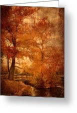 Autumn Tapestry - Lake Carasaljo Greeting Card by Angie Tirado