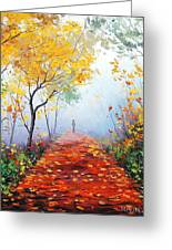 Autumn Trail Greeting Card by Graham Gercken