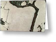 Autumn Tree Greeting Card by Egon Schiele