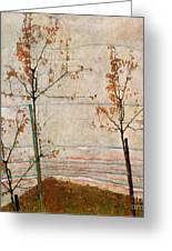 Autumn Trees Greeting Card by Egon Schiele