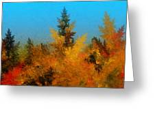 Autumnal Forest Greeting Card by David Lane