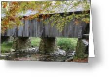 Autumns Bridge Greeting Card by Karol  Livote
