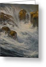 Avalanche Falls Greeting Card by Mia DeLode