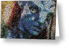 Avatar Neytiri Bottle Cap Mosaic Greeting Card by Paul Van Scott