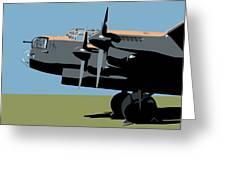 Avro Lancaster Bomber Greeting Card by Michael Tompsett