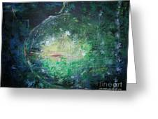 Awakening Abstract II Greeting Card by Lizzy Forrester
