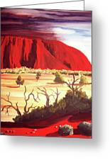 Ayres Rock Greeting Card by Martin Williams