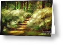 Azalea Stairs Greeting Card by Lois Bryan