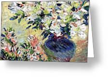 Azaleas Greeting Card by Claude Monet