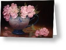 Azaleas In A Cup Greeting Card by Loretta Fasan