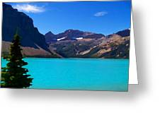 Azure Blue Mountain Lake Greeting Card by Greg Hammond