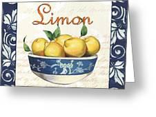 Azure Lemon 3 Greeting Card by Debbie DeWitt