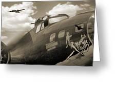 B - 17 Memphis Belle Greeting Card by Mike McGlothlen