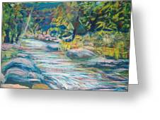 Babbling Brook Greeting Card by Richalyn Marquez