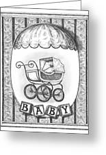 Baby Carriage Greeting Card by Adam Zebediah Joseph