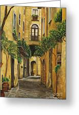 Back Street In Italy Greeting Card by Charlotte Blanchard