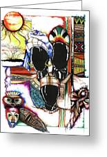 Back To Basic Greeting Card by Anthony Burks Sr