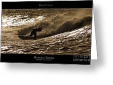 Backlight Surfing - Maui Hawaii Posters Series Greeting Card by Denis Dore