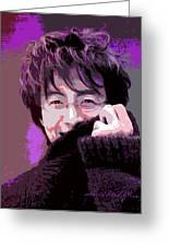 Bae Yong Joon - Winter Sonata Greeting Card by David Lloyd Glover