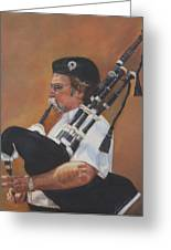 Bag Pipe Greeting Card by Leonor Thornton