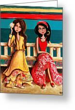 Bahama Breeze Greeting Card by Debbie Horton