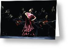 Bailarina Orgullosa Del Flamenco Greeting Card by Richard Young