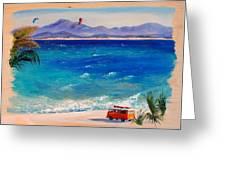 Baja Safari Greeting Card by Lynee Sapere