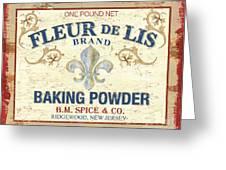 Baking Powder Fleur De Lis Greeting Card by Debbie DeWitt