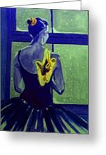 Ballerine En Hiver Greeting Card by Rusty Woodward Gladdish