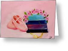 Ballet Still Life Greeting Card by Joni M McPherson