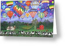 Balloon Race Two Greeting Card by Linda Mears