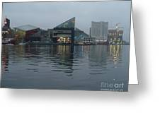 Baltimore Harbor Reflection Greeting Card by Carol Groenen