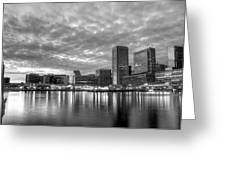 Baltimore In Black And White Greeting Card by JC Findley